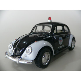 VW Fusca Old Beetle 1967 Polícia  Kinsmart 1:32