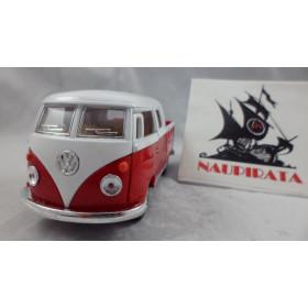VW Kombi 1963 Cabine Dupla Vermelho Kinsmart 1:32