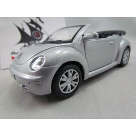 VW New Beetle Convertible Prata Kinsmart 1:32