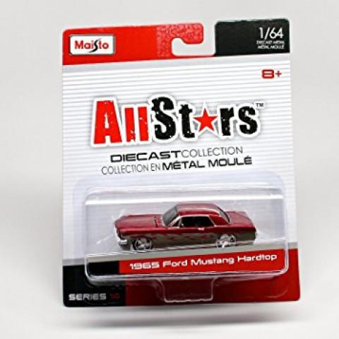 1965 Ford Mustang Hardtop Vermelho 1:64 AllStars
