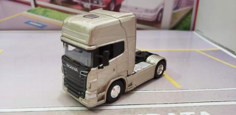Caminhão Scania V8 R730 Champagne 1:64 Welly