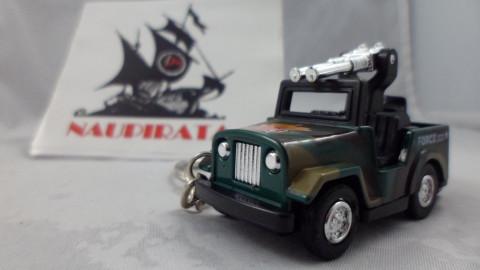 Chaveiro Jeep Militar Verde MD01 Mini Force Kinsmart