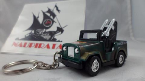 Chaveiro Jeep Militar Verde MD02 Mini Force Kinsmart
