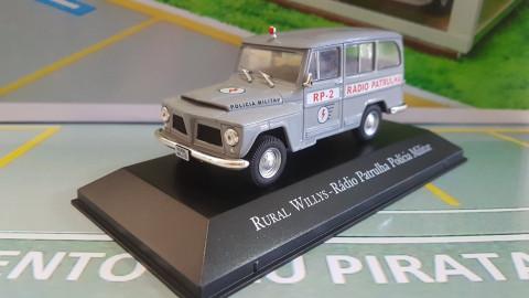 Rural Willys Rádio Patrulha Polícia Militar Série Veículos De Serviço do Brasil IXO 1:43