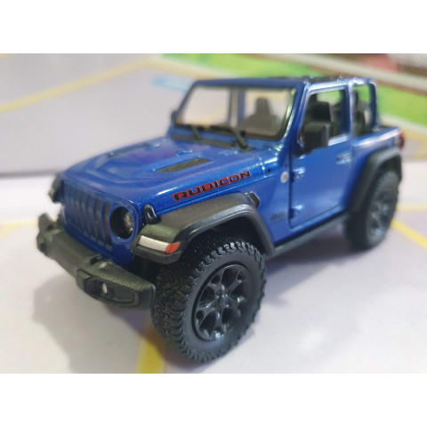 Jeep Wrangler Rubicon sem capota Azul Kinsmart 1:34