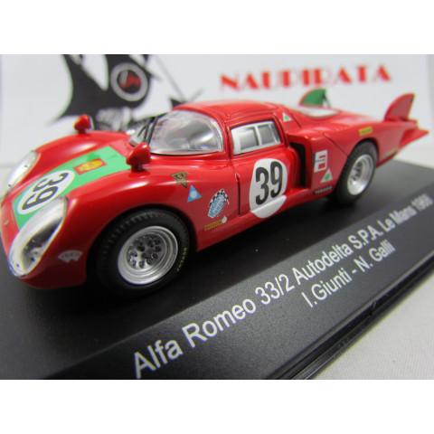 Alfa Romeo - 33/2 Autodelta S.P.A. Nº 39 Le Mans 1968 I. GIUNTI - N. GALLI - Top Model Collection - 1:43