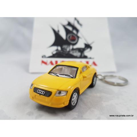 Chaveiro Audi TT Coupé Amarelo 1:64 Kinsmart
