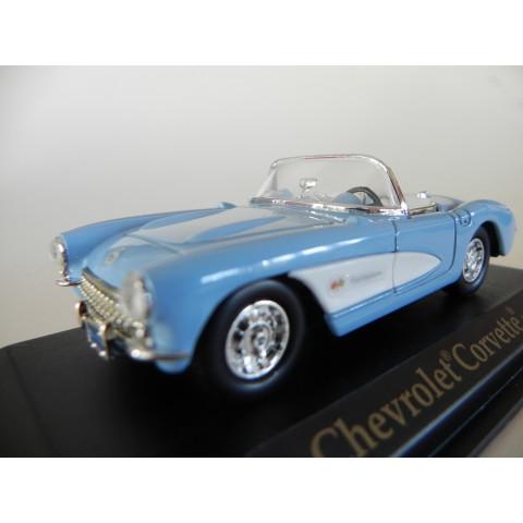 Chevrolet Corvette 1957 Azul - Yatming 1:43