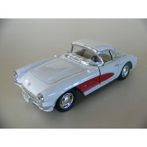 Chevrolet Corvette 1957  Branco & Vermelho Kinsmart 1:34