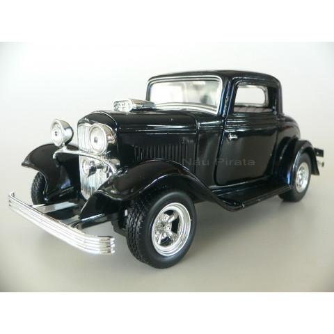 Ford Coupe 1932 Preto Motormax 1:24