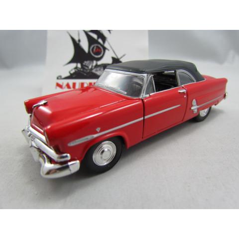 Ford Crestline Sunliner 1953 Fechado Vermelho Welly 1:40