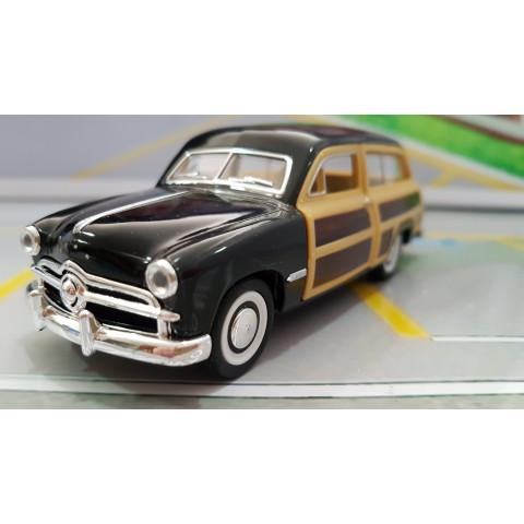 Ford Woody Wagon Preto 1949 Kinsmart 1:40