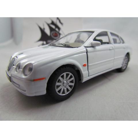 Jaguar S-Type Branco Kinsmart 1:38