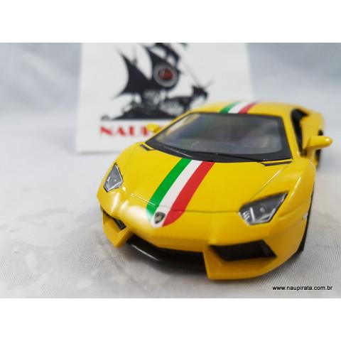 Lamborghini Aventador Lp700-4 Itália Amarelo 1:32 Kinsmart