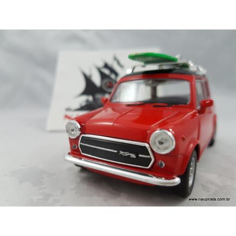 Mini Cooper 1300 Vermelho com Prancha Welly