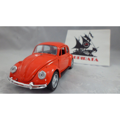 VW Fusca Old Beetle 1967 Abre Capô Laranja Uni Fortune RE 1:32