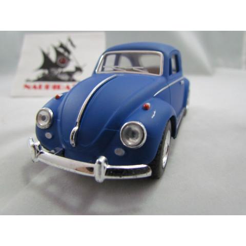 VW Fusca Old Beetle 1967 Azul Fosco Kinsmart 1:32