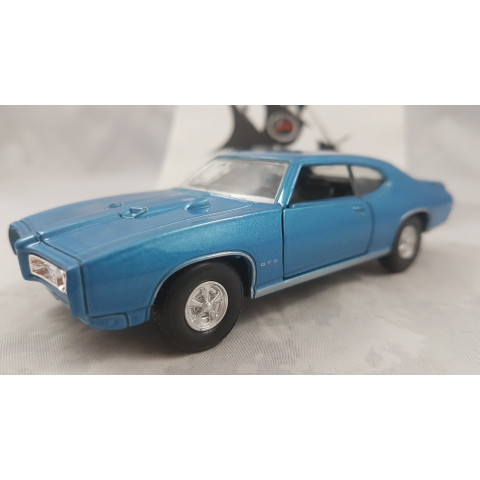 1969 Pontiac GTO Azul Welly 1:36