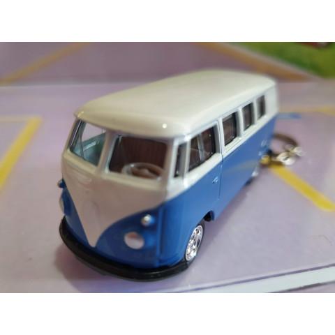 Chaveiro VW Kombi Classical Bus 1962 Azul Welly 1:64