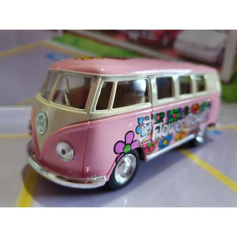 VW Kombi Classical Bus Floricultura Rosa Kinsmart