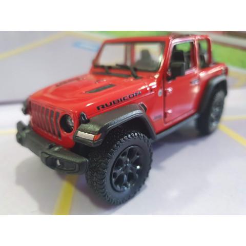 Jeep Wrangler Rubicon sem capota Vermelho Kinsmart 1:34