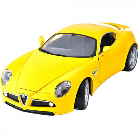 Alfa Romeo 8C Competizione Série Diamond Collezione Burago Amarela 1:18