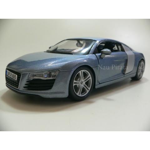 Audi R8 Azul/Prata Maisto 1:24