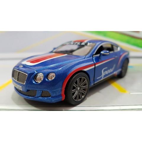 Bentley Continental GT Speed 2012 Azul com faixa Vermelha 1:38 Kinsmart