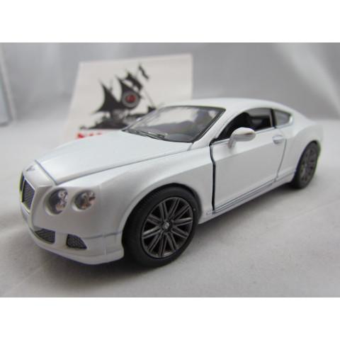 Bentley Continental GT Speed 2012 Branco Perolado Kinsmart 1:38