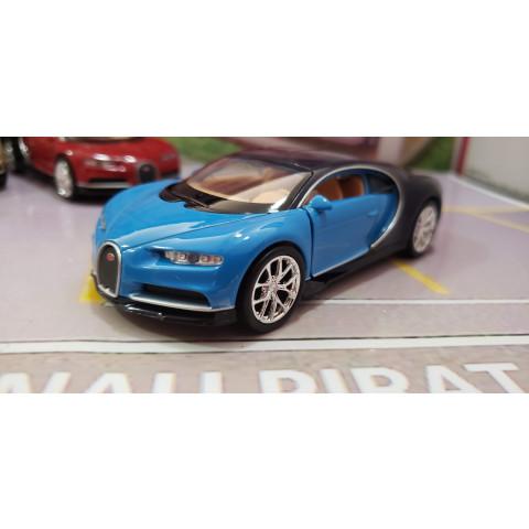 Bugatti Chiron 2017 Azul Welly 1:38
