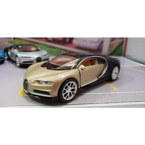 Bugatti Chiron 2017 Dourado Welly 1:38