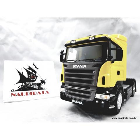 Caminhão Scania R470 Amarelo 1:32 Welly