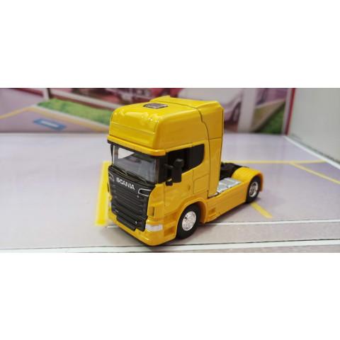 Caminhão Scania V8 R730 Amarelo 1:64 Welly