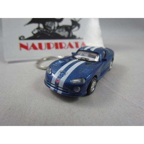 Chaveiro Dodge Viper GTSR Azul Kinsmart 1:72