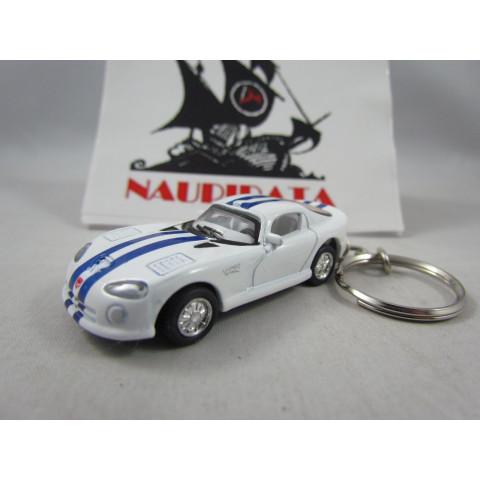 Chaveiro Dodge Viper GTSR Branco Kinsmart 1:72