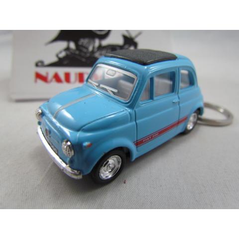 Chaveiro Fiat 500 (Cinquecento) Azul Claro Kinsmart 1:64