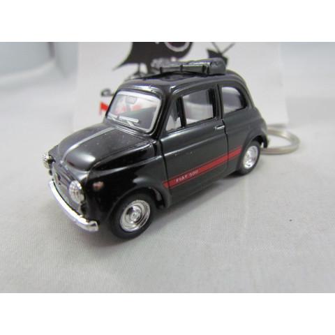 Chaveiro Fiat 500 (Cinquecento) Preto Kinsmart 1:64