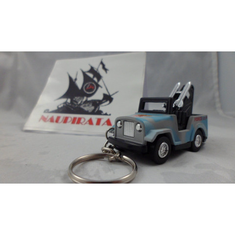 Chaveiro Jeep Militar Azul MD02 Mini Force Kinsmart