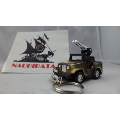 Chaveiro Jeep Militar Marrom MD01 Mini Force Kinsmart