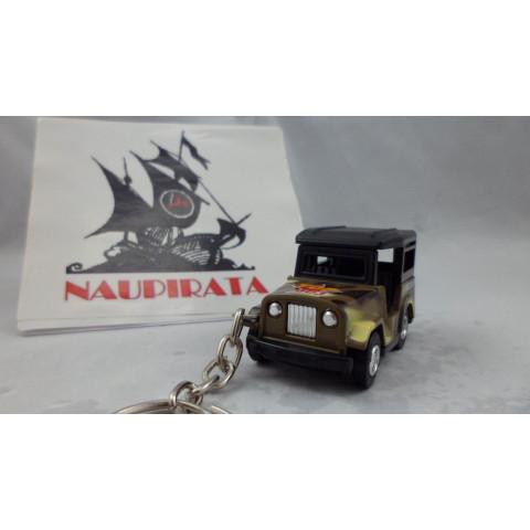 Chaveiro Jeep Militar Marrom Mini Force Kinsmart