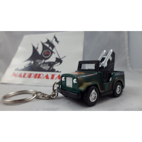 Chaveiro Jeep Militar Verde MD02 Mini Force Kinsmart