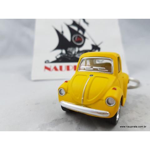 Chaveiro Little Beetle Fusca Amarelo Fosco Kinsmart