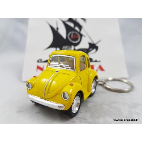 Chaveiro Little Beetle Fusca Amarelo Kinsmart