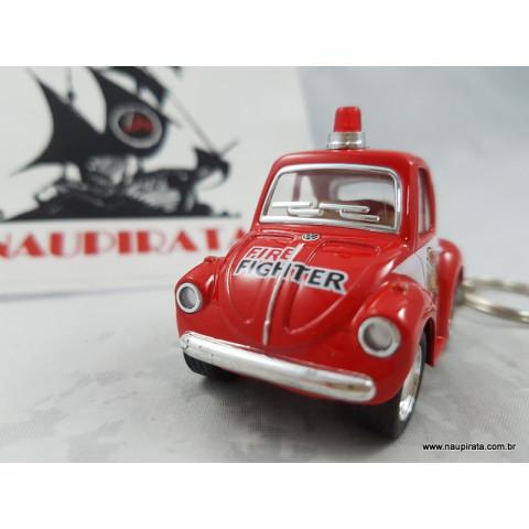 Chaveiro Little Beetle Fusca Corpo de Bombeiro (Firefighter) Kinsmart