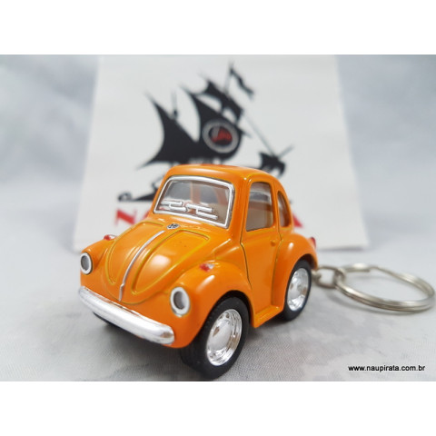 Chaveiro Little Beetle Laranja Kinsmart