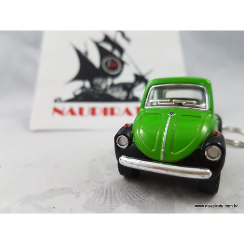 Chaveiro Little Beetle Fusca Verde/Preto Kinsmart
