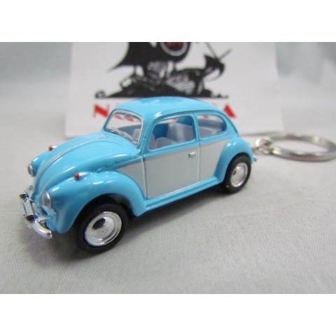 Chaveiro VW Fusca 1967 Azul e Branco Candy Color Kinsmart 1:64