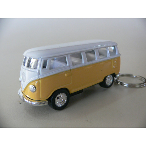 Chaveiro VW Kombi Classical Bus 1962 Amarelo Welly 1:64