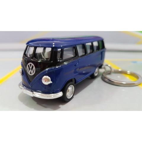 Chaveiro VW  Kombi Classical Bus 1962 Azul e Preto 1:72 Kinsmart