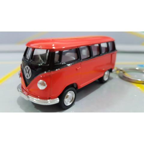 Chaveiro VW  Kombi Classical Bus 1962 Laranja e Preto 1:72 Kinsmart